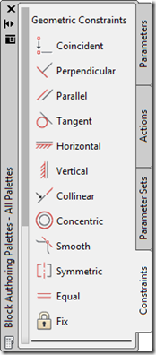 AutoCAD 2010 Block Editor with Geometric Contstraints
