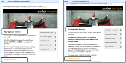 Autodesk Subscription Downloads Email Notifications