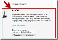 AutoCAD 2010 Download on the Autodesk Student Engineering & Design Community