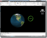 3D Earth Day 2009 Drawing in AutoCAD 2010