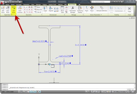 Test AutoCAD 2010 Dynamic Block