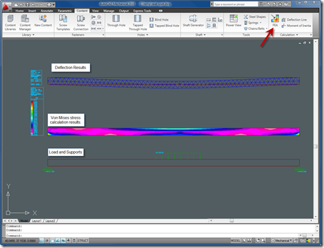 2D FEA in AutoCAD Mechanical 2010