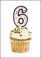 Blogs 6 Year Cupcake