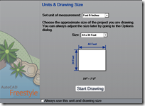 AutoCAD Freestyle Drawing Setup