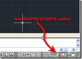AutoCAD 2011 GRAPHICSCONFIG button