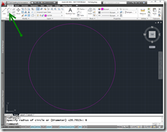 "AutoCAD 2011 Creating a 6"" diameter circle for Yin-Yang symbol"