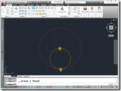 AutoCAD 2011 Yin-Yang Symbol creation Step 2