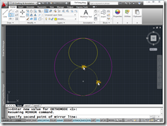 AutoCAD 2011 Yin-Yang Symbol creation Step 3