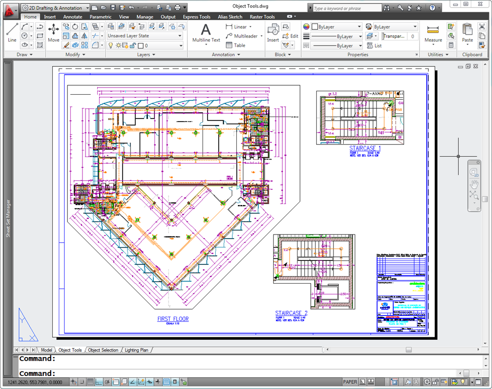 AutoCAD 2011 Default Layout UI Look