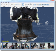Photo Scene Editor with a Liberty Bell Point Cloud