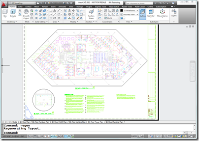 AutoCAD 2011 Layout with color linework