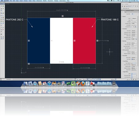 Franch Flag in AutoCAD for Mac