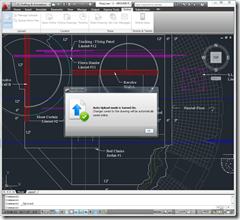AutoCAD 2011 Uploading a DWG to AutoCAD WS for sharing in a markup session.