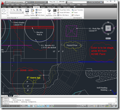 AutoCAD 2011 showing markups from shared AutoCAD WS session