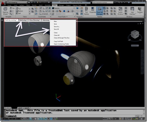 MDITabs in AutoCAD 2011