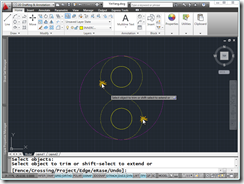 AutoCAD 2011 Yin-Yang Symbol creation Step 5