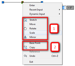 Using the AutoCAD Vertex Context Menu