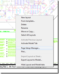 Right-Click Layout Tab Options