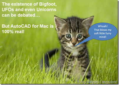Cute Furry Kitten's Mind is Blown by AutoCAD for Mac
