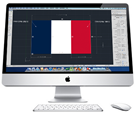 French Flag drawn in AutoCAD for Mac