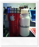 Apple & Autodesk Water Bottles at the event