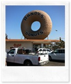 Randys Donuts on the way to LAX