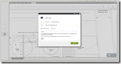 Sending a share invitation to Kate to markup a drawing in AutoCAD WS.