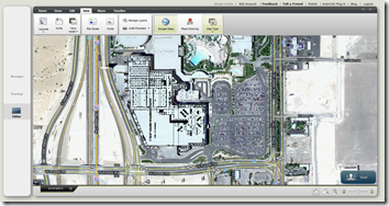 AU 2010 Layout AutoCAD Drawing on Google Map in Satellite View in AutoCAD WS