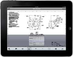 Autodesk Inventor Layout DWG on AutoCAD WS Mobile iPad