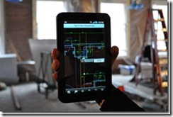 AutoCAD WS on a Tablet Mobile Device at the jobsite :-)