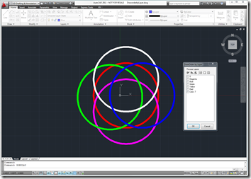 AutoCAD 2011 running the DOBYLAY command
