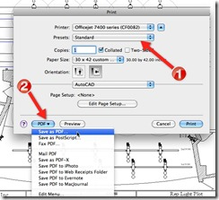 AutoCAD for Mac Print Dialog - Plot to PDF