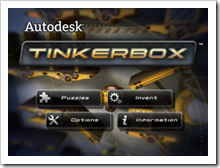 Autodesk Tinkerbox for the iPad - Main Screen