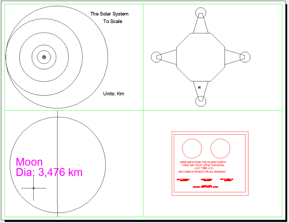 The Solar System Drawn to Scale in AutoCAD DWG - Scale is Everything ...