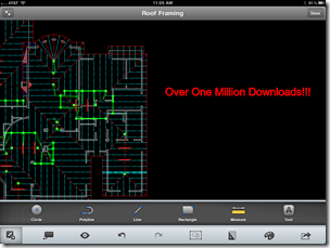 AutpoCAD WS Mobile on iPad - 1 Million Downloads