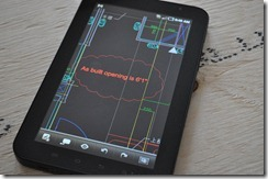 Redline markups for as-built drawing creation set using AutoCAD WS on a Tablet Mobile Device :-)