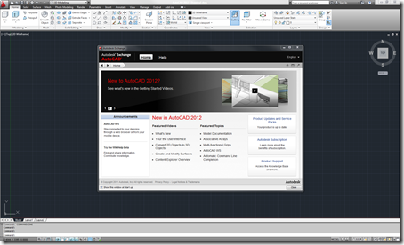 "AutoCAD 2012 also known as codename ""Ironman"" launched and showing the new Autodesk Exchange."