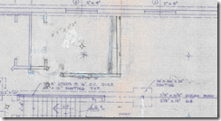 Pencil and whiteout on as-built information on a blueprint - YUCK!
