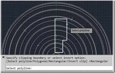 Selecting polyline boundary for clip