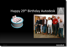 Happy 29th Birthday Autodesk