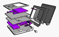 Bloom Laptop Visualized in Autodesk Inventor Publisher