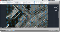 Imported Google Earth MESH of Justin Herman Plaza in AutoCAD 2012