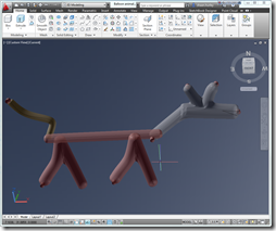 Shaan's crazy digital ballloon animal in AutoCAD 2012