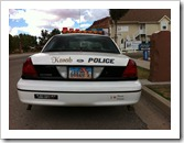 """I Love Plastic Donuts"" Decoy Traffic Police of of Kanab Utah"