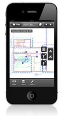 Autodesk Design Review mobile - 2D DWF File with markup on iPhone