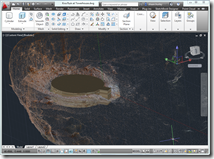 Kiva Ruins at Towerhouse being reconstructed in solids from point cloud reference.