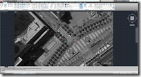 Imported Google Earth IMAGE of Justin Herman Plaza in AutoCAD 2012
