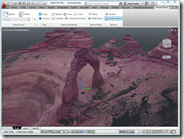 AutoCAD 2012 with Delicate Arch Point Cloud Data