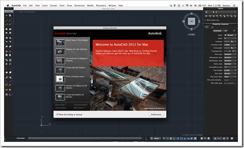 AutoCAD 2012 for Mac!