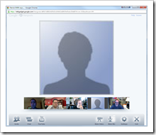 Person without video in Google+ Hangout session